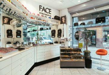 FACE Stockholm butiksinteriör